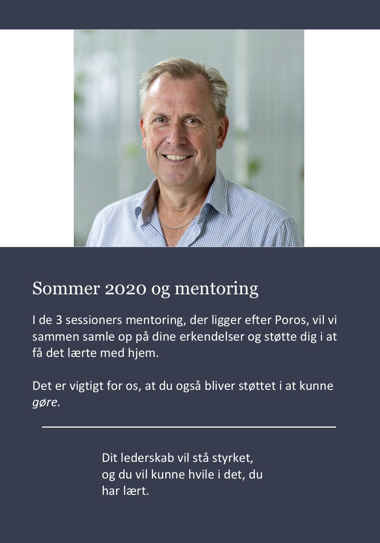 Program: Herefter er der igen 3 sessioners mentoring